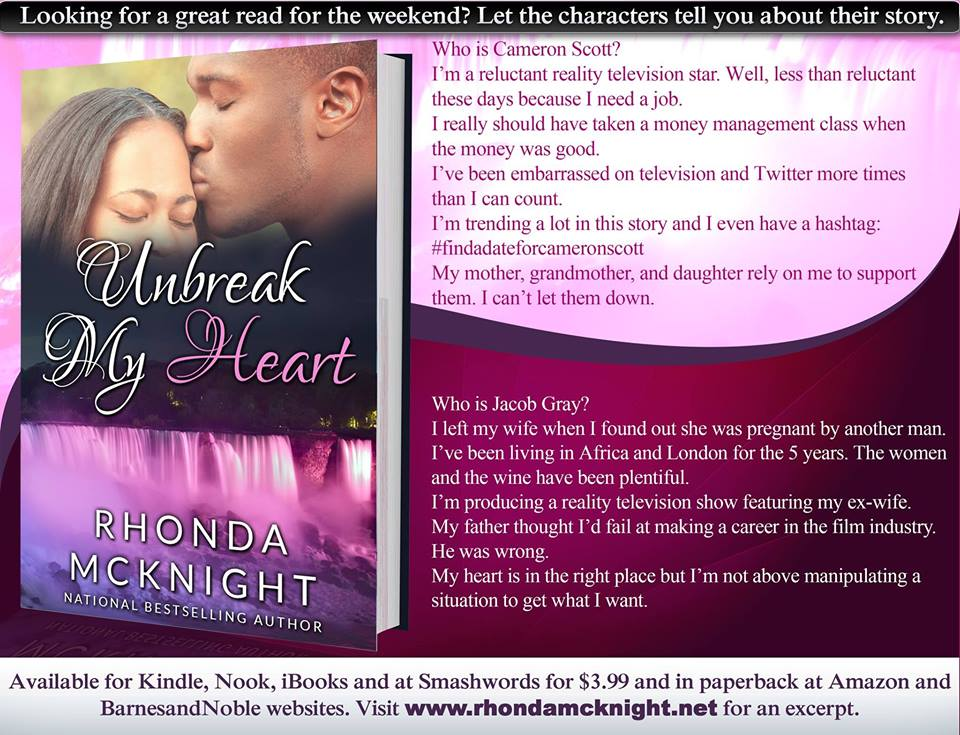 AD-Unbreak My Heart; Second Chances (Book 2) by-Rhonda McKnight